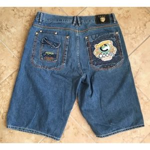 COOGI Sz 38 Premium Colors Blue Denim Shorts